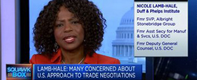 Nicole Y. Lamb-Hale Talks Tariffs and IP Protection on CNBC Squawk Box