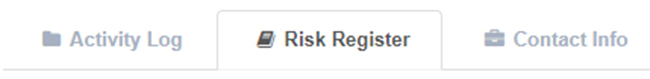Cyberclarity360TM Product Release Note: Risk Register